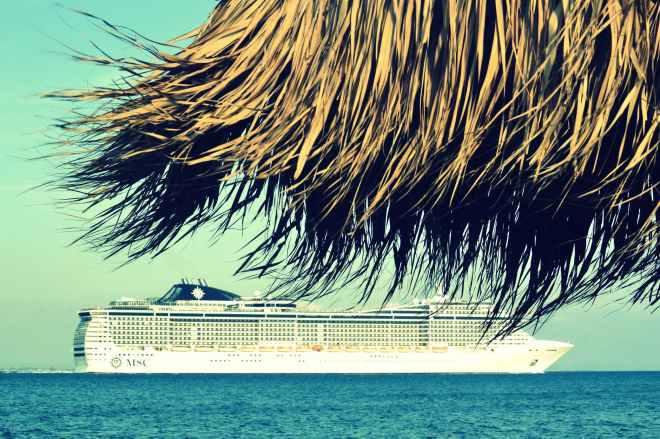 beach blue cruise dry leaves